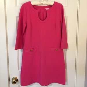 Lilly Pulitzer Pink 3/4 Length Sleeve Dress